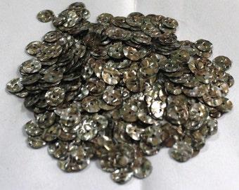 100 Golden Silver Color/ Round Sequins/Melange Texture/ KBRS580