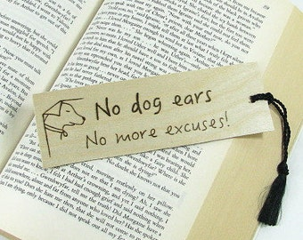 Wood Bookmark. Wood Pyrography. Book Quote. Funny Quote. Teacher Gift. Book Lover. Unique Bookmark. Library. Dog Lover. Funny Bookmark.
