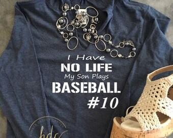 Baseball Mom Shirt/Funny Mom Shirt/Mom Baseball Shirt/Baseball Mom/Womens Baseball Tee/Baseball Mom Tee/Long Sleeve Hoodie Tee
