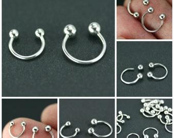 Horseshoe rings, Body piercing, Body piercing metal, Cartilage hoop earring, Gothic piercing, Hoop piercing, Hoop nose ring, Surgical steel