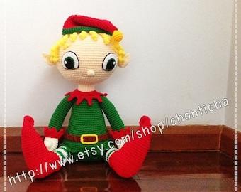 Elf boy 22 inches - PDF amigurumi crochet pattern