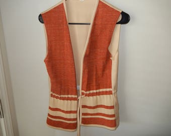 Polyester Skirt and Vest - 1970's