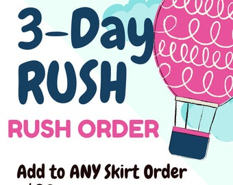 RUSH 3 Days to sew 2 Day Shipping ADD to any order
