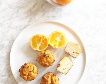 Organic Orange Glaze Brûlée Muffins Gluten Free Wheat Free