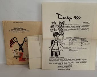 Rare mid century, vintage pinafore/sundress pattern, sizes 2-8  Free Shipping in US!