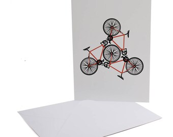 Road Bike Greetings Card