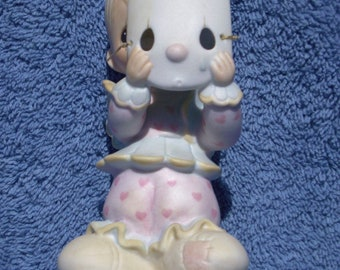 "Precious Moments Figurine  # PM 822 -  ""Put On A Happy Face"" Retired - Special Edition Members Club Only"