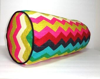 Waverly Panama Wave Desert Flower Bolster Pillow Decorative Pillow Neck Roll 9x20 Chevron Pillow