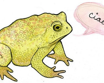 """Toad """"Ciao"""" 4 x 6 Notecard"""