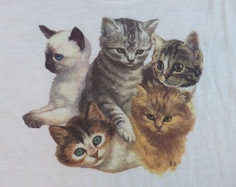 Original CATS and KITTENS vintage 70s SHIRT