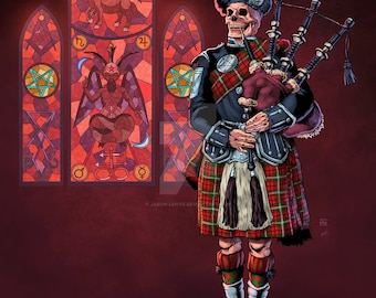 Image result for satan bagpipes