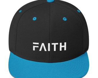 Faith Snapback Hat with Flat Bill