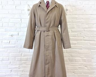 Size 36 - 38 Vintage 1960s 1964 British Military Raincoat, Men's with Belt by J. Mandelberg & Co. Ltd.
