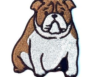 Bulldog Iron on Patch No Name