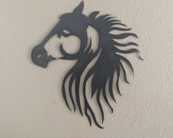 Metal Art Cowboy or Cowgirl's Love for Horses