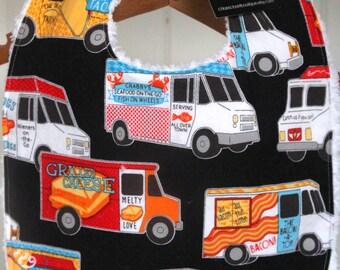 Baby Bib, Food trucks, gender neutral, Baby shower gift,