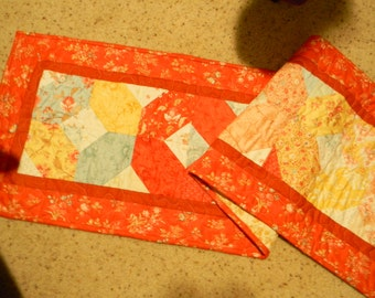 Red/Blue/Yellow Table Runner Quilt