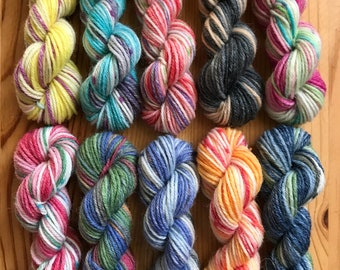 OPAL Sock Yarn Mini Skein Set #7 -- 10 Mini Skeins/25 Yards Each