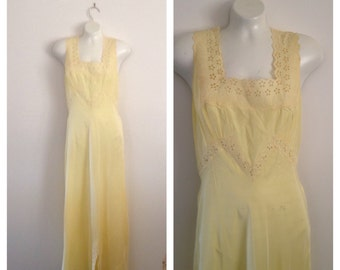Vintage Yellow Nightgown by Lady Duff