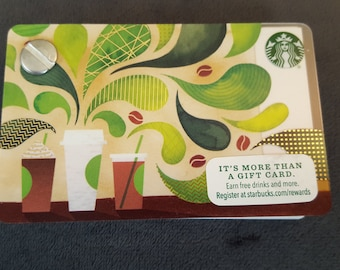 Starbucks Upcycled Refillable Giftcard Notebook - 2016 Coffee Cups & Beans