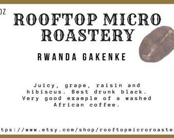 Rwanda Gakenke small batch roasted coffee