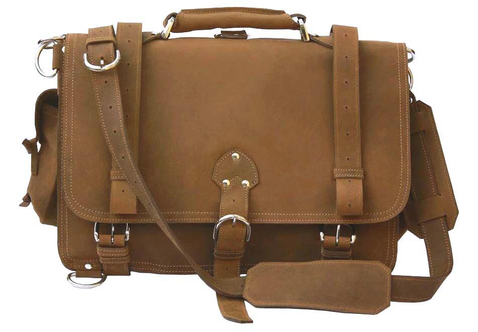 Usa Made Messenger Bag Leather Briefcase Backpack Large