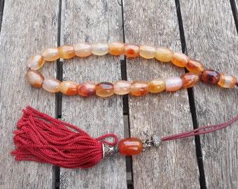 Handmade Rosary Beads Glass Agate Stone