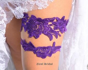 Purple Lace garter, Wedding Garter Set, Bridal Garter, Keep Garter, Purple Wedding Garter, Wedding Garter ,Purple Bridal, Bridal Garter Set