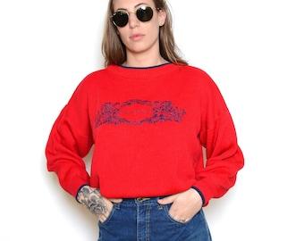 Vintage 80's Oscar de la Renta Knit Sweater Sz L