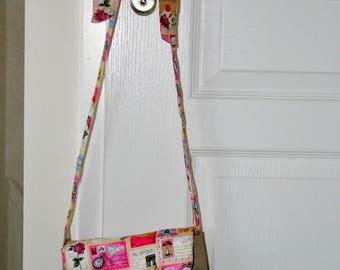 Handbag with a bow theme postcards travel