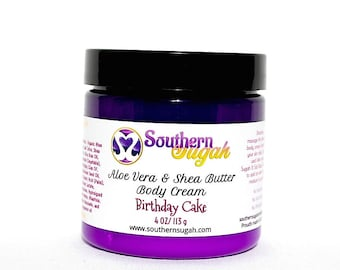 Aloe Vera and Shea Body Butter Cream-Birthday Cake