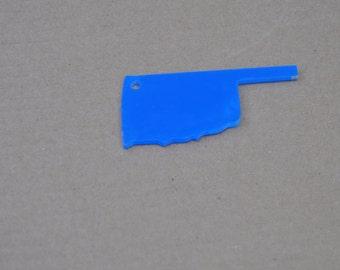 5 clear acrylic OKLAHOMA key chain blanks