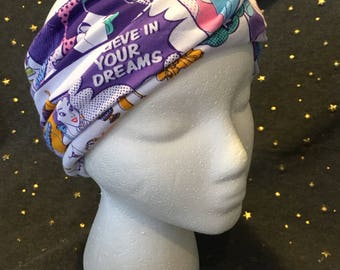 Princesses Multicolored Jersey Knit 4-Way Slouchy Head Wrap