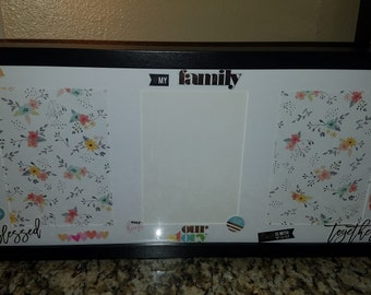 Family picture frame, custom frame, unique gift, memories display