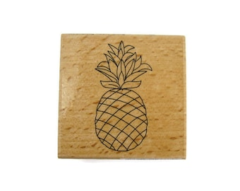 Pineapple Rubber Stamp | Fruit Rubber Stamp | Pineapple Stamp | Art Supplies | Craft Stamp | Fruit Stamp | Hawaii Stamp