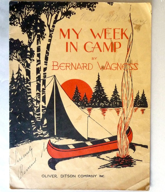 My Week in Camp: A Group of Second-Grade Piano Studies in the Form of Pieces 1932 Bernard Wagness Signed