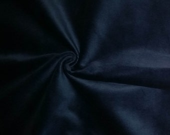 Luxurious Solid Blue 100% Cotton Velvet Velour Fabric for Upholstery Craft Heavy Weight Curtain Drapery Material Sold by the Yard 54 inch W