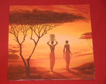 """home deco """"African"""" themed paper napkin"""