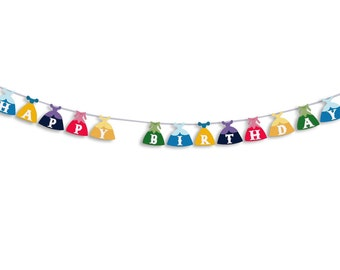 HAPPY BIRTHDAY Princess Banner, Happy Birthday Princess Garland, Birthday Banner, Birthday Garland, Birthday decoration, Princess party
