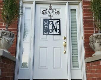 "22"" Metal Door Hanger//Wedding Gift//Anniversary Gift//Housewarming Gift//Personalized Gift//Family Name//Monogram"