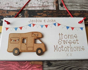 Motor home plaque. My best seller!  Personalised