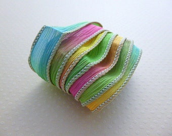Ribbon color No. 801 hand dyed silk