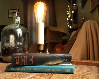 Stack of Books Table Lamp - The Covenant and Celestine Prophecy