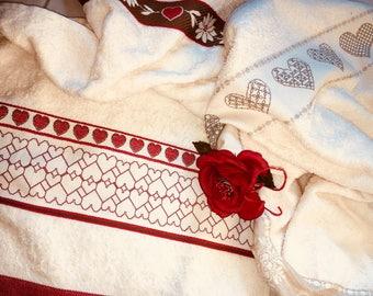 Towels Hearts love-towels hearts Love