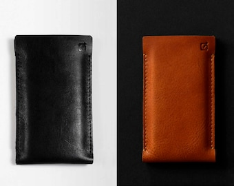 New Sony Xperia L1, Xperia XZ, Xperia Z, Xperia Sola case leather sleeve black or tan leather padded wool