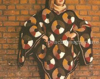 poncho, crochet pattern, ladies, pdf, digital download