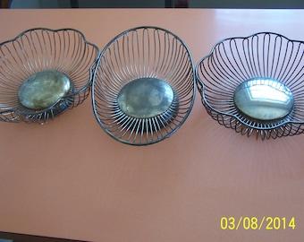 Three Silver Baskets