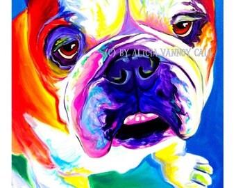 Bulldog Art, Bulldog Painting, Pet Portrait, DawgArt, Dog Art, Bulldog Painting, Pet Portrait Artist, Colorful Bulldog, Colorful Dog Art