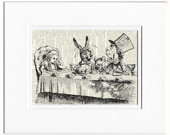 Alice in Wonderland Tea Party print