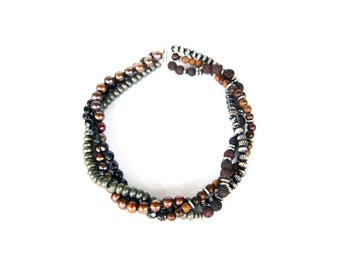 Twisted Beaded Sterling Silver Choker